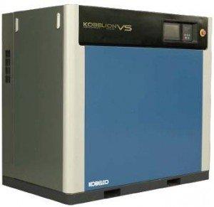 máy nén khí trục vít ngâm dầu Kobelco chạy biến tần