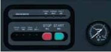 Màn hình điều khiển của máy nén khí Kobelco dòng Compact