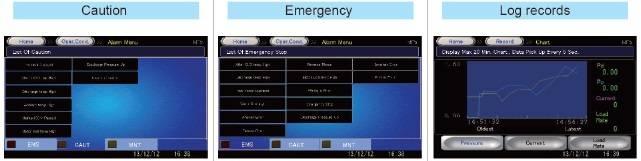 màn hình cảnh báo của máy nén khí kobelco