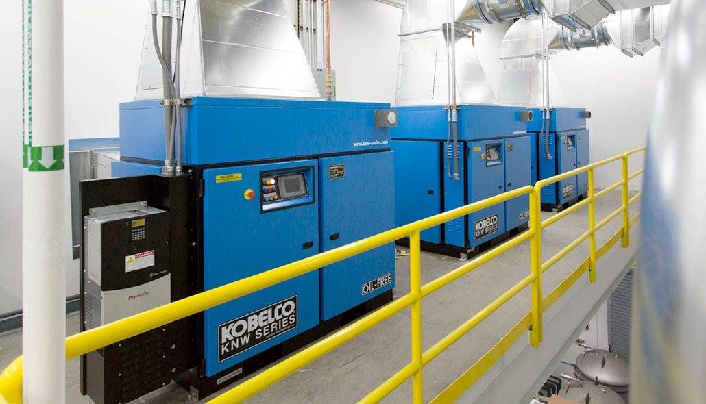 máy nén khí kobelco oil free