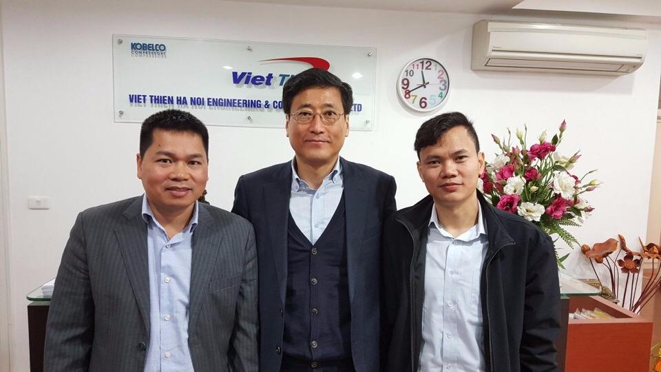Giám đốc + ban lãnh đạo Kobelco Compressor Việt Thiên